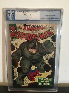 Amazing Spider-man 41 Pgx 7.5 1st Rhino
