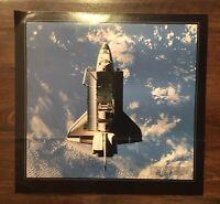"""Vintage NASA Space Shuttle Top View Cargo Doors Open Poster 17 x 18"""""""