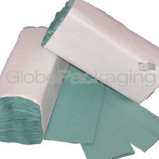 320 x GREEN 1 PLY C-FOLD PAPER HAND TOWELS MULTI FOLD