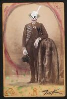ORIGINAL ART painting GUS FINK Horror lowbrow modern antique UNCLE CREEPY CLOWN