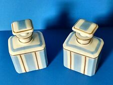 LIMOGES Pair of Porcelain Perfume Bottles ~ Hand-Painted For Saks Fifth Avenue