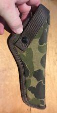 A nice mint condition camouflage waist belt nylon holster - superb           DD