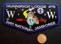HUNNIKICK LODGE 76 OA BURLINGTON COUNTY COUNCIL NJ 37 PATCH 2001 JAMBOREE FLAP