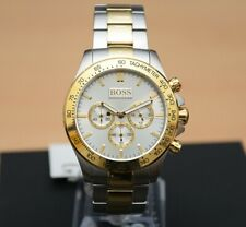 Brand New Men's Hugo Boss Watch 1512960 Two Tone Gold Silver Chronograph