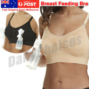 Women Hands Free Breast Feeding Pump Pumping Breastpump Maternity Nursing Bra