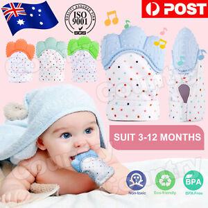 Teething Mitten Silicone Baby Teether Mitt Glove Safe Bpa Free Chew Dummy Toy