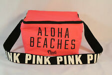 Victoria's Secret Hot Pink Lunch Bag Aloha Beaches Insulated Eat Food Drink Work