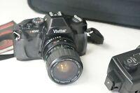 Vivitar V4000 Manual 35mm SLR Camera w/ 28-70 Macro Focusing Zoom Lens & Strap