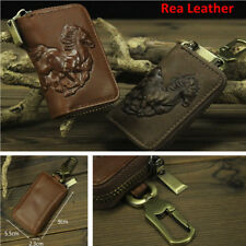 100% Leather Auto Car Key Wallets Key Holder Key Keychain Covers Zipper Key Bags