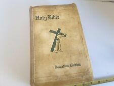 Holy Bible Salvation Edition Leather Bound Authorized or King James Version 1957