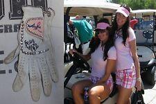 Nikki The Bella Twins Signed WWE Wrestlemania Worn Used Golf Glove PSA/DNA Ring