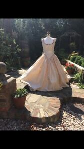 Ivory Slub Silk   Fairy Tale Wedding Dress