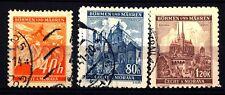 GERMANY - GERMANIA - BOEMIA E MORAVIA - 1940 - Ramo di tiglio e paesaggi