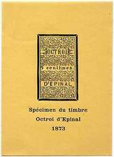 "France - Epinal Municipal Revenue - 1873 issue ""Specimen"" Reprint"
