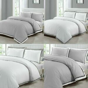 LUXURY BEDDING SET 100% EGYPTIAN COTTON 400TC WHITE DUVET COVER DOUBLE KING SIZE