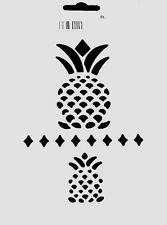PINEAPPLE STENCIL FRUIT PATTERN STENCILS PAINT ART CRAFT TEMPLATE NEW BY QCI