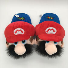 Super Mario brothers plush warm indoor slipper shoes shoe anime statue