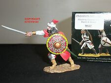 KING AND COUNTRY MK37 CRUSADERS SARACEN ATTACKING WITH SWORD + SHIELD FIGURE