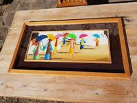 Cosimo Nardulli (Laterza 1942) oil on board Il Sud 80x45cm quadro olio su tavola