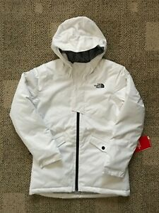 The North Face Youth Girls Freedom Insulated Ski Jacket White Size M (10/12)