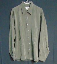 Burma Bibas Classics Men's Gray Collared Button Down Dress Shirt Size XL