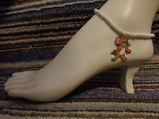 bracelet beads anklet stretchy beach Jerry mouse tom enamel charm ankle