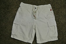TRUE RELIGION SAMUEL CARGO Shorts 36 NWT$279 Distressed! Crisp White! Super RARE