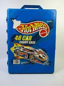 Vintage 1998 Mattel Hot Wheels 48 Car Carrying Box Blue Good++ Condition!