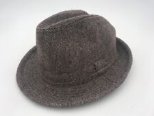 MENS D&Y FEATHER BAND TRILBY FEDORA MULTICOLOR PATTERN HAT