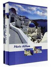 "Slip In Photo Album In Box Holds 200 6"" x 4""  Memo Greece Santorini Holiday Gift"