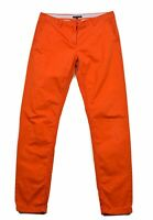 Tommy Hilfiger Homme Pantalon Taille 8 Orange Rome Coupe Standard Authentique