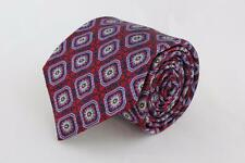 ROBERT TALBOTT Best of Class Tie. Red and Blue Boxed Floral.