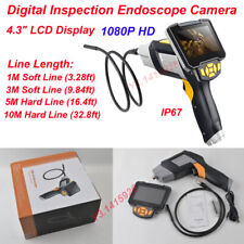 "4.3"" LCD Display 6LED IP67 1080P HD Handheld Digital Inspection Endoscope Camera"
