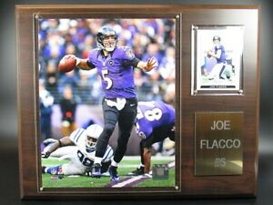 Joe Flacco Baltimore Ravens Wood Wall Picture 15in, Plaque NFL Football