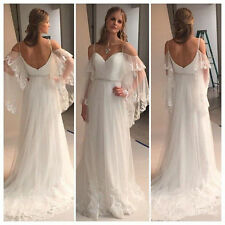 New Long White/Ivory Wedding Dress Bridal Gowns Strapless custom Plus Size 2-28