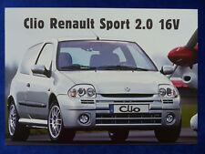 Renault Clio RS Sport 2.0 16V - Prospekt Brochure 09.1999