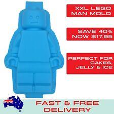 Lego Like Man Minifigure Large Cake Party Silicone Baking Tray Jelly Mold Mould