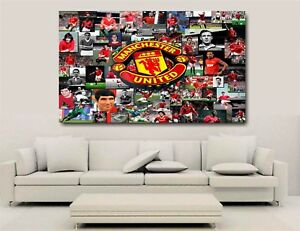 Manchester United All Time Greatest - Canvas Wall Art