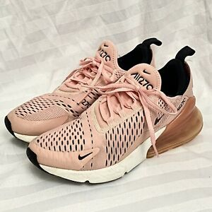 Women's Nike Air Max 270 Sneakers Size 8 M Stardust Pink Coral Black AH6789-600