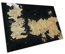 GAME OF THRONES MAP WALL ART LARGE A1 POSTER 33 X 23 INCH