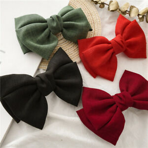 Classic Bow Knotted Barrette Hair Clip Lady's Fashion Headwear Barrette Hairpin