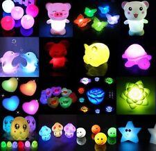 Luz de la noche 7 colores que cambian decoración la lámpara LED luz nocturna