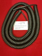 3 core 1.0sqmm coiled Black PUR cable. 2000mm coil.