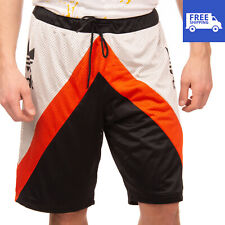 RRP €105 ADIDAS ORIGINALS Basketball Shorts Size L Colour Block Drawstring Waist