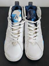 Air Jordan Vii 7 White/French Blue-Blue-Flint Grey 304774-107 Gs Size 5.5Y