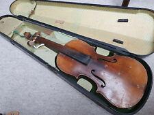 """old nicely flamed 4/4 Violin  violon! """"Antonio Lavezzari 1916"""" needs repair"""