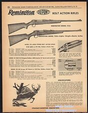 1955 REMINGTON Model 721 721A 722A Bolt Action Rifle Print AD w/ specs