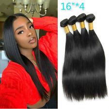 Straight hair 4 bundles brazilian hair weave Weft 100% human hair Natural Color