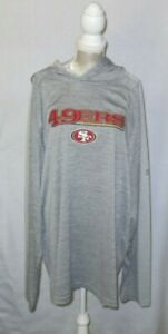 San Francisco 49er's Majestic Logo Pullover Hoodie Gray New