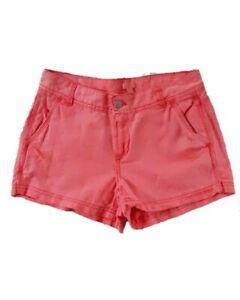 J. Crew Womens Coral Melon Garment Dyed Shorts Linen Cotton Size 0 NWT